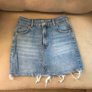 the perfect jean skirt